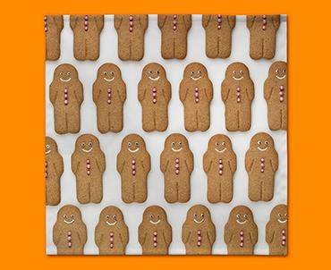 Gingerbread Man Napkins (Set of 4)