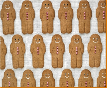 Gingerbread Men Canvas Art Print