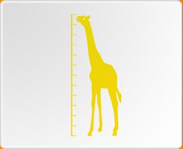 Giraffe Height Chart Wall Sticker