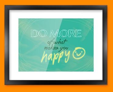 Happy Typography Framed Print