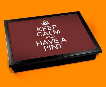 Have A Pint Keep Calm Cushion Lap Tray