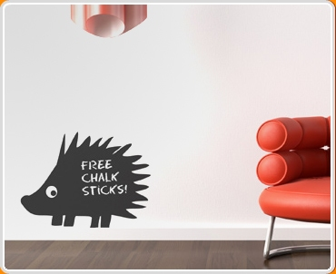 Hedgehog Chalkboard Wall Sticker