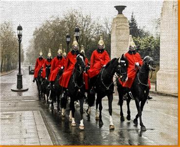Horse Guards Canvas Art Print