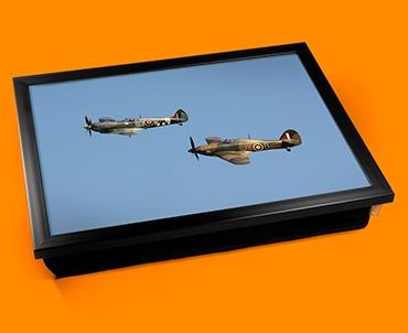 Hurricane Hawker and Spitfire Supermarine Plane Cushion Lap Tray