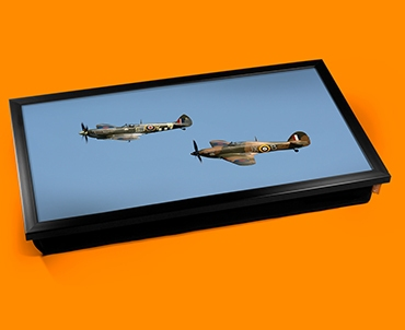 Hurricane Hawker and Spitfire Supermarine Plane Cushion Laptop Tray