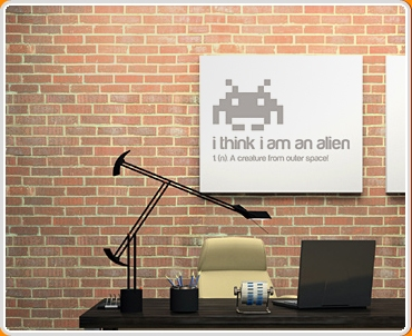 I think i am an Alien Quote Wall Sticker