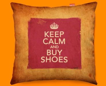 Keep Calm Vintage Buy Shoes Funky Sofa Cushion 45x45cm