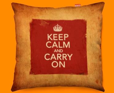 Keep Calm Vintage Carry On Funky Sofa Cushion 45x45cm