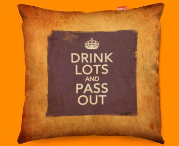 Keep Calm Vintage Drink Lots Funky Sofa Cushion 45x45cm