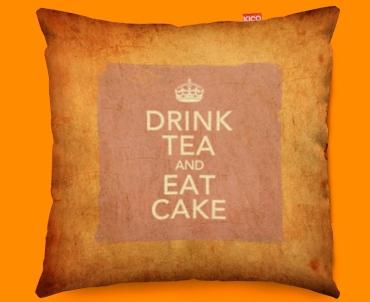 Keep Calm Vintage Drink Tea Funky Sofa Cushion 45x45cm