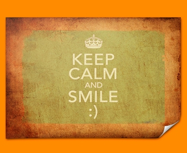 Keep Calm Vintage Smile Poster