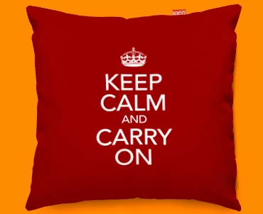 Keep Calm And Carry On Sofa Cushions 45x45cm