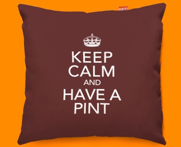 Keep Calm Have a Pint Funky Sofa Cushion 45x45cm
