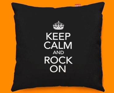Keep Calm Rock On Funky Sofa Cushion 45x45cm