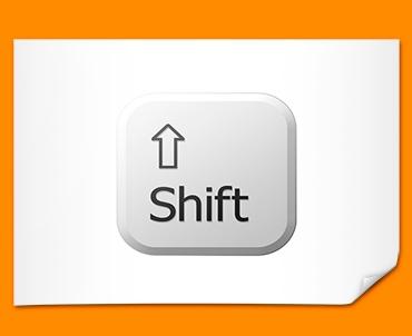 Key Shift White Poster