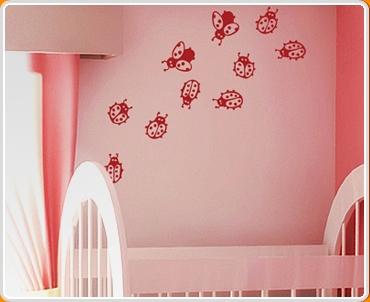 Ladybirds Set Wall Sticker