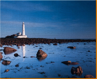 Light House Rocks Canvas Art Print