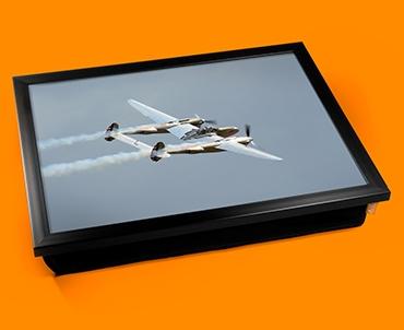 Lightning Lockheed Plane Cushion Lap Tray