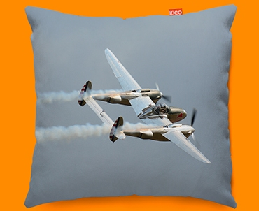 Lightning Lockheed Plane Sofa Cushion