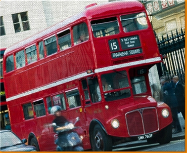 London Bus Canvas Art Print