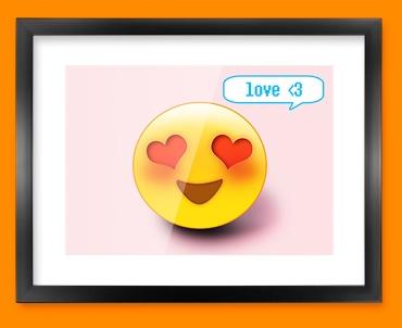 Love Emoticon Framed Print