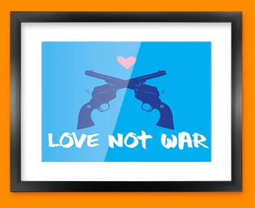 Love Not War Framed Print