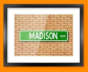 Madison Ave US Street Sign Framed Print