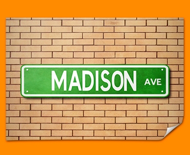Madison Ave US Street Sign Poster