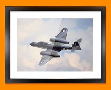 Meteor Gloster Plane Framed Print