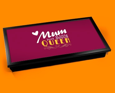 Mum Queen Typography Laptop Tray