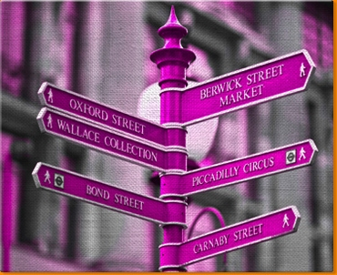 Oxford Circus Canvas Art Print
