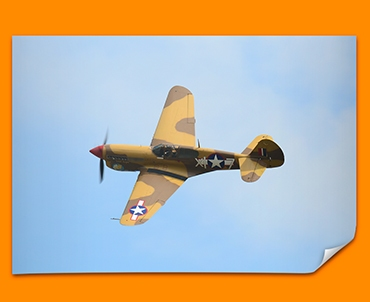 P 40 Warhawk Curtiss Plane Poster