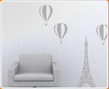 Paris Balloon Set Wall Sticker