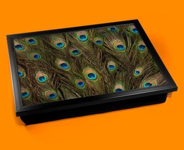 Peacock Feathers Cushion Lap Tray