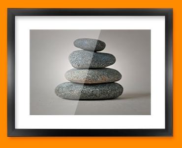 Pebble Stack Framed Print