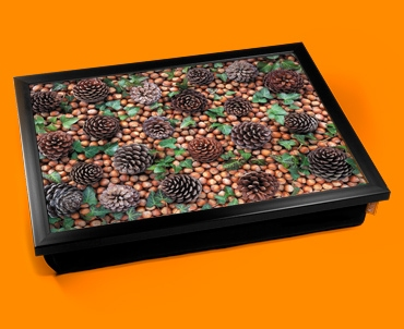 Pine Cones Cushion Lap Tray