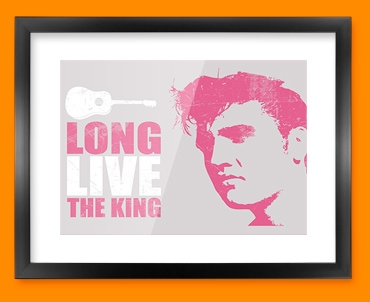 Pink Elvis Framed Print