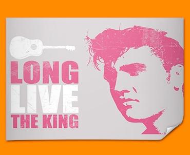 Pink Elvis Poster