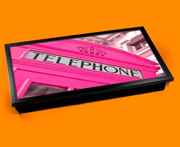 Pink Phone Box Laptop Lap Tray