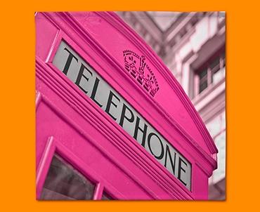 Pink Telephone Box Napkins (Set of 4)
