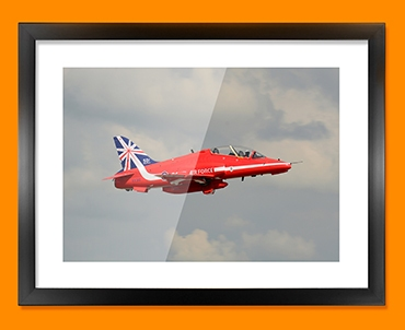 RAF Red Arrows Plane Framed Print