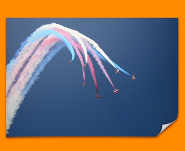 Red Arrows Plane Poster