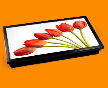 Red Tulips Laptop Lap Tray