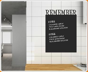 Remember Chalkboard Wall Sticker