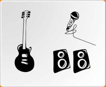 Rock Band Set Wall Sticker