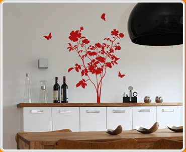 Rose Bush Wall Sticker