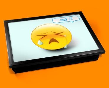Sad Emoticon Lap Tray