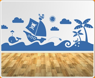 Sea Mural Wall Sticker