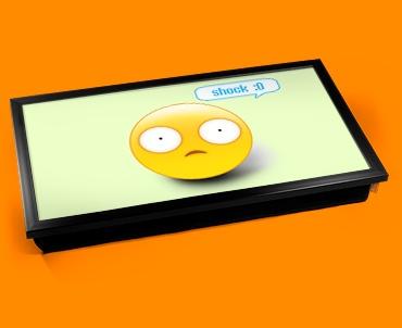 Shock Emoticon Laptop Tray