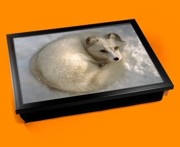 Snow Fox Cushion Lap Tray